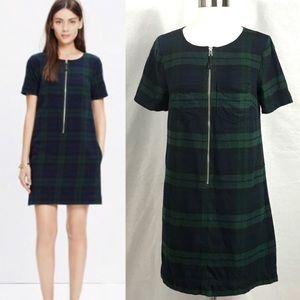 EUC✨MADEWELL Green/Blue Plaid Dress - 2